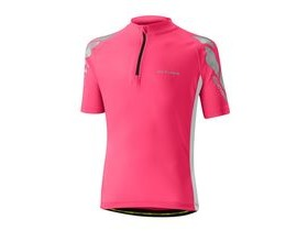 Altura Kids Nightvision Short Sleeve Jersey 2016: Pink/white