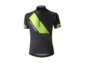 Altura Kids Sportive Short Sleeve Jersey 2016: Black/hi Viz Yellow