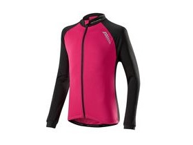 Altura Kids Sprint Long Sleeve Jersey 2016: Raspberry/black