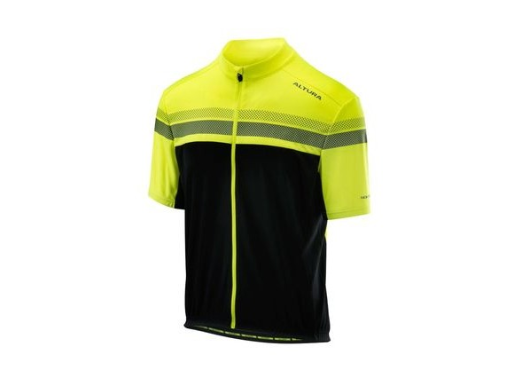 Altura Nightvision Short Sleeve Jersey 2018: Hi-viz Yellow/black click to zoom image