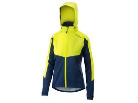 Altura Womens Nightvision Thunderstorm Jacket 2018: Blue/hi-viz Yellow Reflective