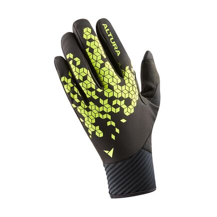 Altura Nightvision Windproof Gloves Black/Hi-viz Yellow click to zoom image