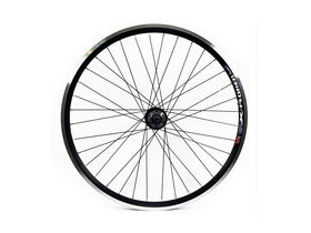 Wilkinson Wheels 26x1.75 Front - Black Double Wall MTB Rim - Disc/V-brake - Black Disc Hub Q/R Black Spokes, 32 Hole Black 26""