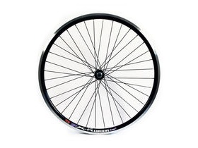 Wilkinson Wheels 26x1.75 Front - Black Double Wall MTB Rim - V-brake Q/R Black Hub Black Spokes, 36 Hole Black 26""