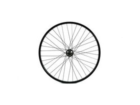 Wilkinson Wheels 26x1.75 Front - Black Single Wall MTB Rim - Q/R Disc/V-brake 36 Hole Black Spokes 26""