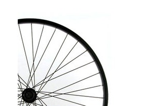 Wilkinson Wheels 26x1.75 Front - Black Single Wall MTB Rim - V-brake Solid Axle, Black Hub Silver Spokes 36 Hole Black 26""