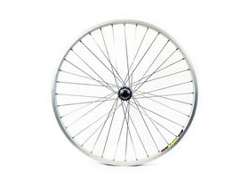 Wilkinson Wheels 26x1.75 Front - Silver Single Wall MTB Rim - V-brake Solid Axle Steel Hub Silver Spokes, 36 Hole Silver 26""