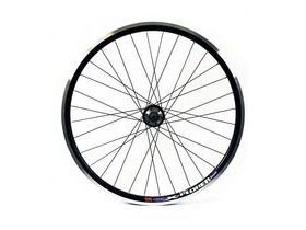 Wilkinson Wheels 26x1.75 Rear - Black Double Wall MTB Rim - Disc/V-brake Q/R Black 8/9 Speed Disc Hub Black Spokes, 32 Hole Black 26""