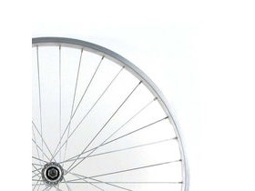 Wilkinson Wheels 26x1.75 Front - Silver Single Wall MTB Rim - V-brake Solid Axle Silver Hub Silver Spokes, 36 Hole Silver 26""