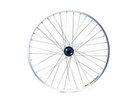 Wilkinson Wheels 26x1.75 Rear - Silver Double Wall MTB Rim - Disc/V-brake Q/R Disc Screw On Hub Silver Spokes, 36 Hole Black 26""
