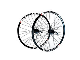 Wilkinson Wheels 26x1.75 Rear - Black Mach 1 Neuro MTB Disc Rim - Shimano Deore 8/9/10 Speed 32 Hole Black Spokes Black 26""
