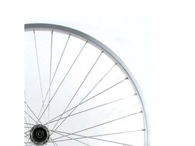 Wilkinson Wheels 26x1.75 Rear - Silver Single Wall MTB Rim - V-brake Q/R Silver 8/9/10 Speed Hub Silver Spokes, 36 Hole Silver 26""