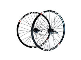 Wilkinson Wheels 26x1.75 Front - Black Mach 1 Neuro MTB Disc Rim - Shimano Deore 32 Hole Black Spokes Black 26""