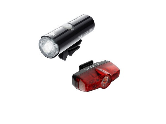 CATEYE Volt 200 XC Front & Rapid Mini Rear Usb Rechargeable Set click to zoom image
