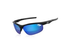 TIFOSI Veloce Gloss Black Clarion Blue Lens Sunglasses Red