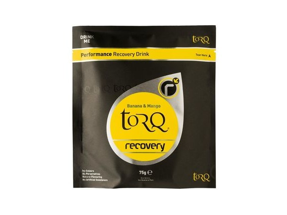 TORQ Recovery Drink Single Serve Sachets (1x 75g) Banana & Mango click to zoom image